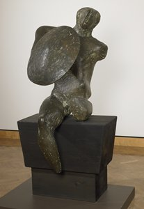 "Henry Moore's ""Warrior with Shield"""