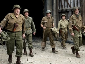 The Monuments Men, starring and directed by George Clooney, opens February 7.