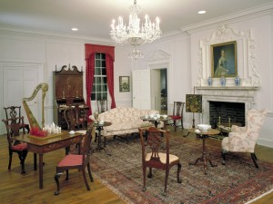 The Charleston Drawing Room at the MIA, installed in 1931 and set up in 18th-century fashion—with one oversight.