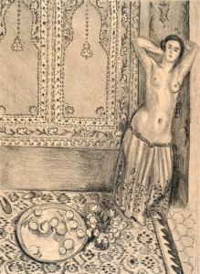 "Matisse's ""Standing Odalisque with a Plate of Fruit,"" from 1924, in the collection of the Minneapolis Institute of Art."