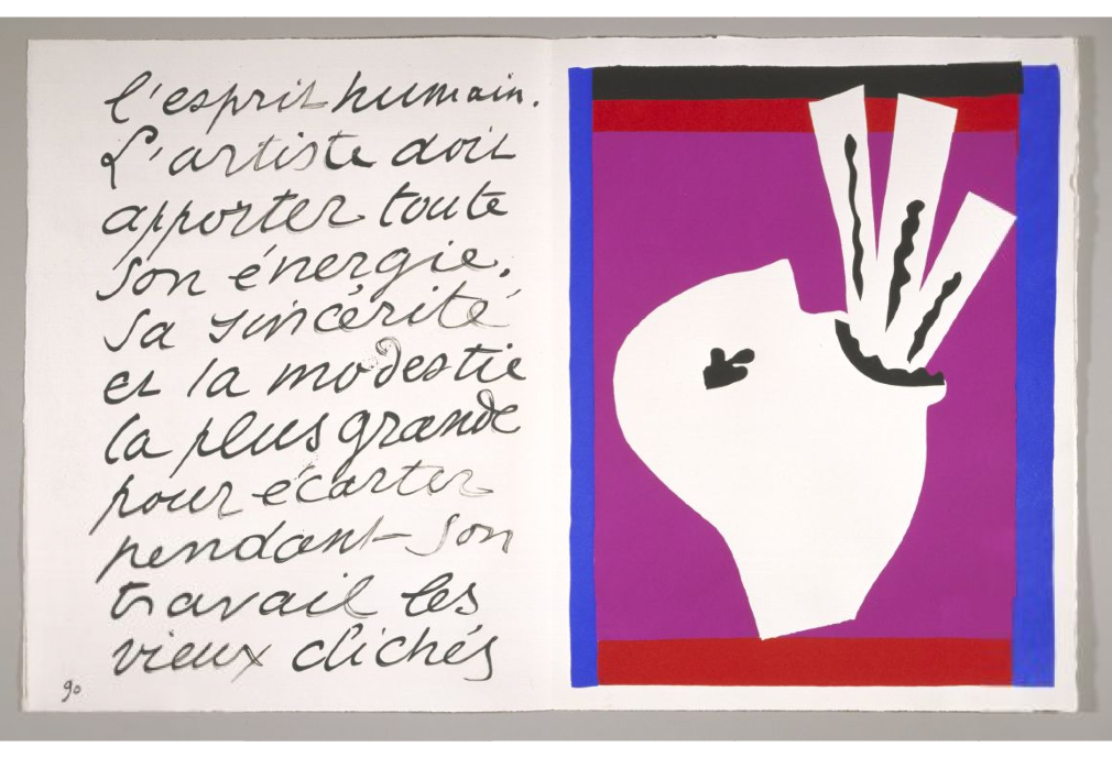 "A spread from Matisse's ""Jazz"" book, from 1947."