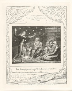 William Blake's engraving of the Job story, from 1825.