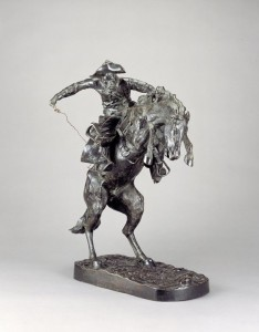 """Frederic Remington's """"Bronco Buster,"""" one of Ed Ackerson's Listen inspirations."""