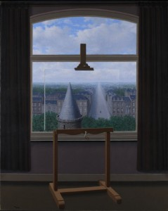 """""""The Promenades of Euclid"""" by René Magritte, from 1955."""