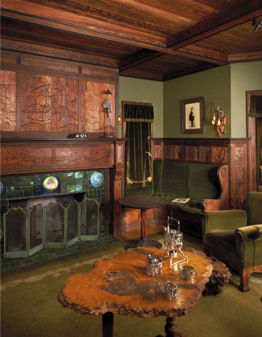 The Prindle House period room at the MIA, filled with fixtures and furniture designed by Bradstreet.