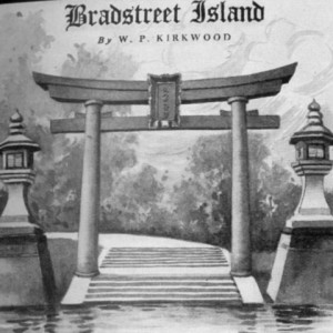 A Japanese-inspired design, complete with temple and torii gate, proposed for Lake of the Isles by Bradstreet and rejected by parks poobah Theodore Wirth.