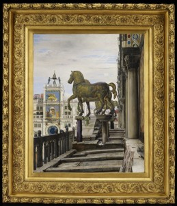 """""""The Bronze Horses of San Marco,"""" by Charles Caryl Coleman, painted in 1876 and on view in gallery G323 at the Minneapolis Institute of Art."""