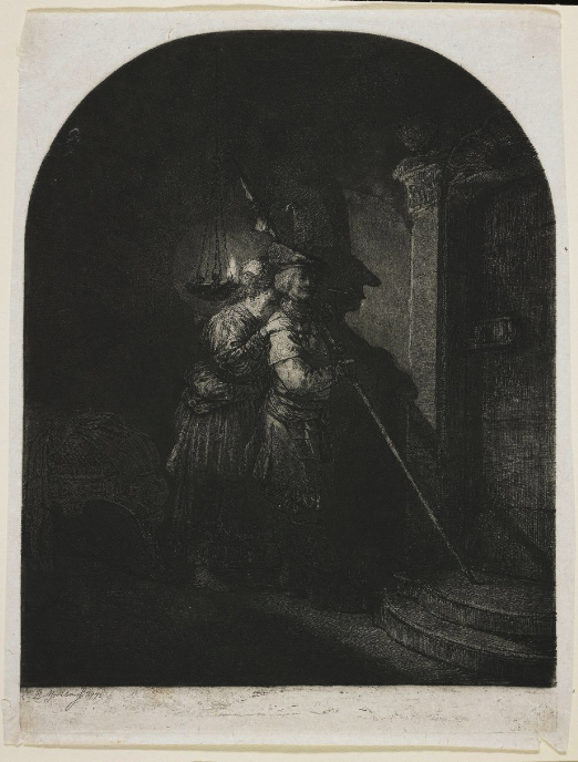 """Jean-Pierre Norblin de la Gourdaine's """"The Invention of Drawing,"""" an etching from 1773, now in the MIA's collection."""