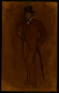 The unconcealed indolence of Edgar Degas's brother Achille.