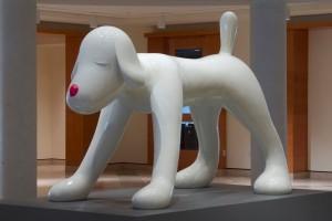 "Yoshitomo Nara's ""Your Dog"" at the MIA. Cute but too big to be cuddly."