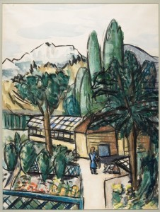 Max Beckmann, Bavaria, c. 1934, watercolor with touches of pastel, bequest of Margaret McMillan Webber 51.36