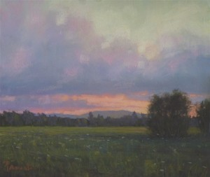 """Sunset Over Mt. Sunapee"" by Sunapee artist Susan Parmenter was displayed last year in national juried exhibition organized by the Pastel Society of New Hampshire."