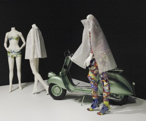 "Installing the exhibition ""Italian Style: Fashion Since 1945"" in the MIA's Target Gallery."