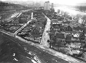 The Italian neighborhood on the East Side of St. Paul, circa 1938.
