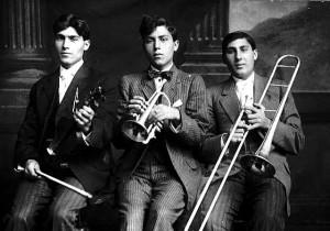 Italian musicians in Minnesota in 1915.