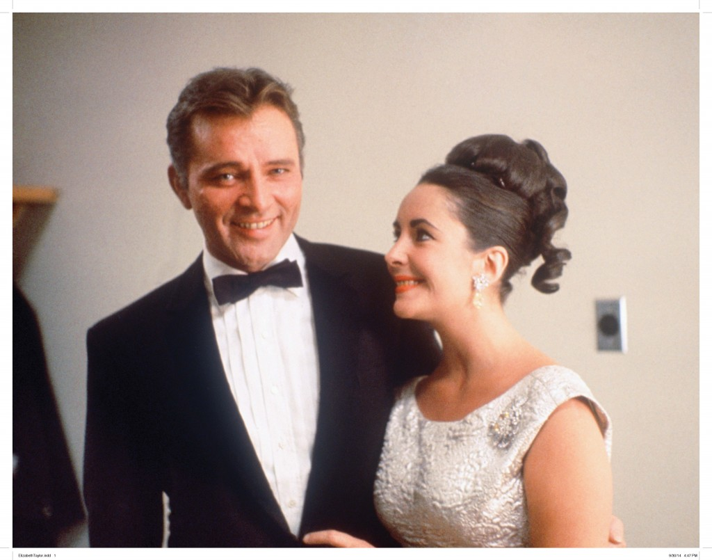 Elizabeth Taylor with Richard Burton—wearing the brooch from Eddie Fisher.