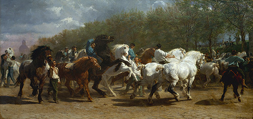 "Rosa Bonheur's ""Horse Fair,"" from the collection of the Metropolitan Museum of Art."