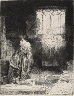 Rembrandt's Faust etching has much to do with magic and nothing to do with the Faust legend.