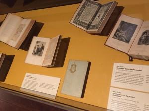 Historic copies of Jane Austen's novels in Mia's new Jane Austen Reading Room.