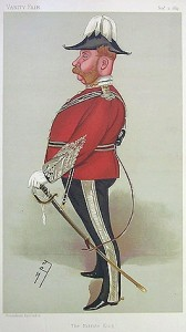"""A caricature of Colonel John T. North in the November 1889 issue of """"Vanity Fair."""""""