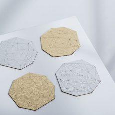 Gem Leather Coasters