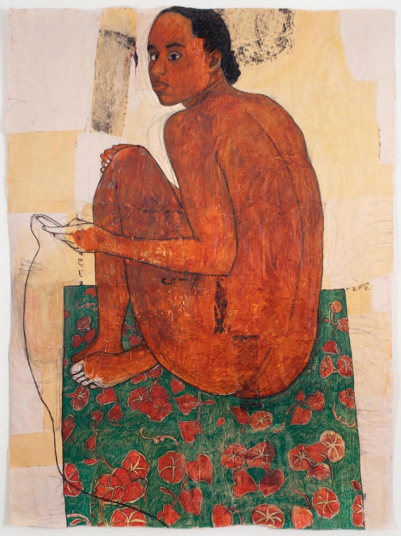 Mequitta Ahuja, born 1976 In Back Garden: Green Carpet, 2013