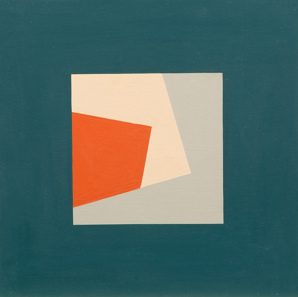 Mary Ann Currier, born 1927, Ruminations on the Right Angle 10B, 2013