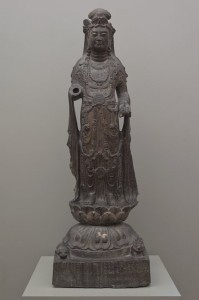 The deity today, on view in Mia's second-floor Buddhist sculpture court (gallery G200).