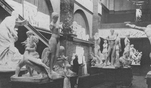 Sculptures in the first exhibition in the Minneapolis Industrial Exposition Building in 1886—all plaster casts.