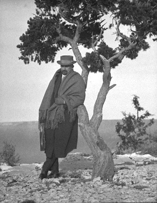 Dow posed at the Grand Canyon for Alvin Langdon Coburn.
