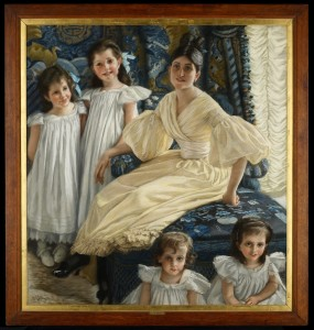 James Tissot French, 1836–1902 Comtesse d'Yanville and Her Four Children, 1895 Pastel Gift of Ruth and Bruce Dayton 97.65