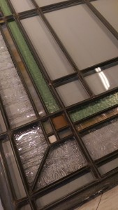 In this conserved window panel you can see various thicknesses of zinc caming for emphasis.