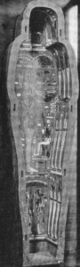 The lower part of a coffin, part of the Drexel collection purchased by Mia in 1916.