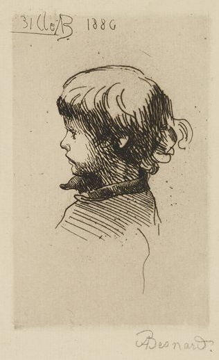 Albert Besnard, Robert Besnard in Profile, 1886, etching, Bequest of Mrs. Charles S. Pillsbury, 1958 P.12,630
