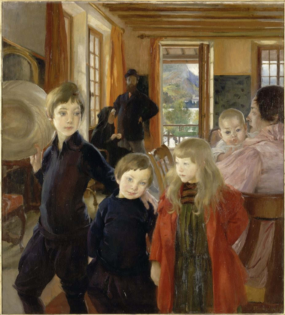 "Albert Besnard, ""Une famille"""