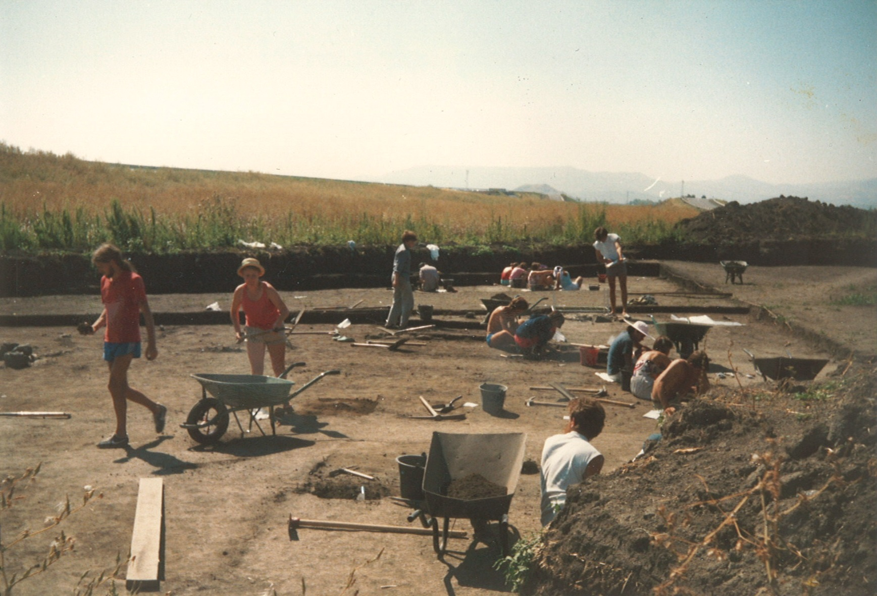 The archaeological site in central France where the author spent four summers working in the 1980s.