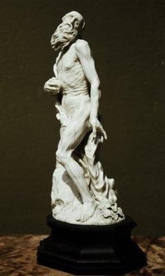 Adam Lenckhardt's sculpture of St. Jerome, at Mia.