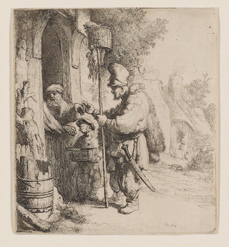 Rembrandt's rat peddler.