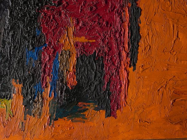 A detail of George Morrison's untitled painting from 1960.