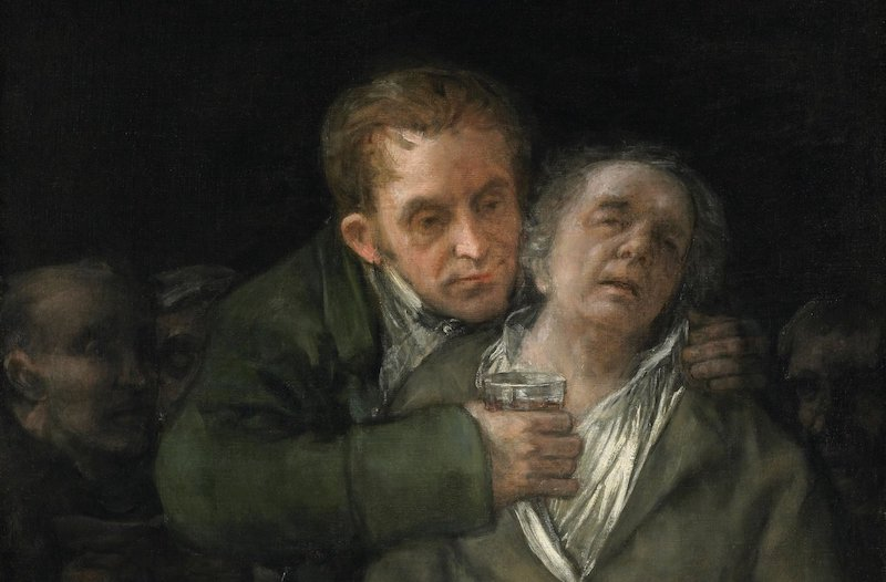 Goya's self-portrait with Dr. Arrieta, from the collection of Mia.
