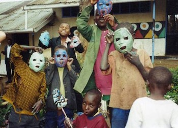 Kids in the Nairobi slum of Korogocho, where Yeh led community art projects.
