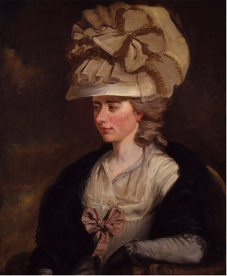 Fanny Burney, depicted by her cousin Edward Francisco Burney in a painting at the National Portrait Gallery, London.