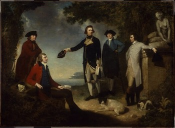 Portrait of Banks, Cook, Solander, Hawkesworth, Lord Sandwich