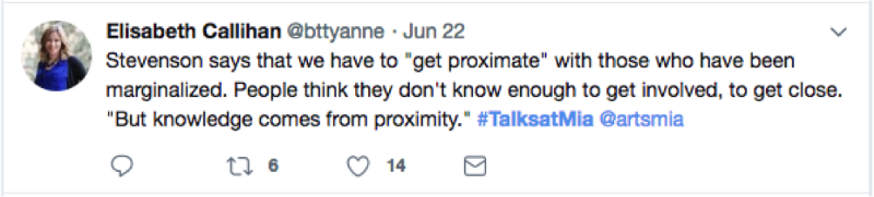 Bryan Stevenson quoted on Twitter: get proximate