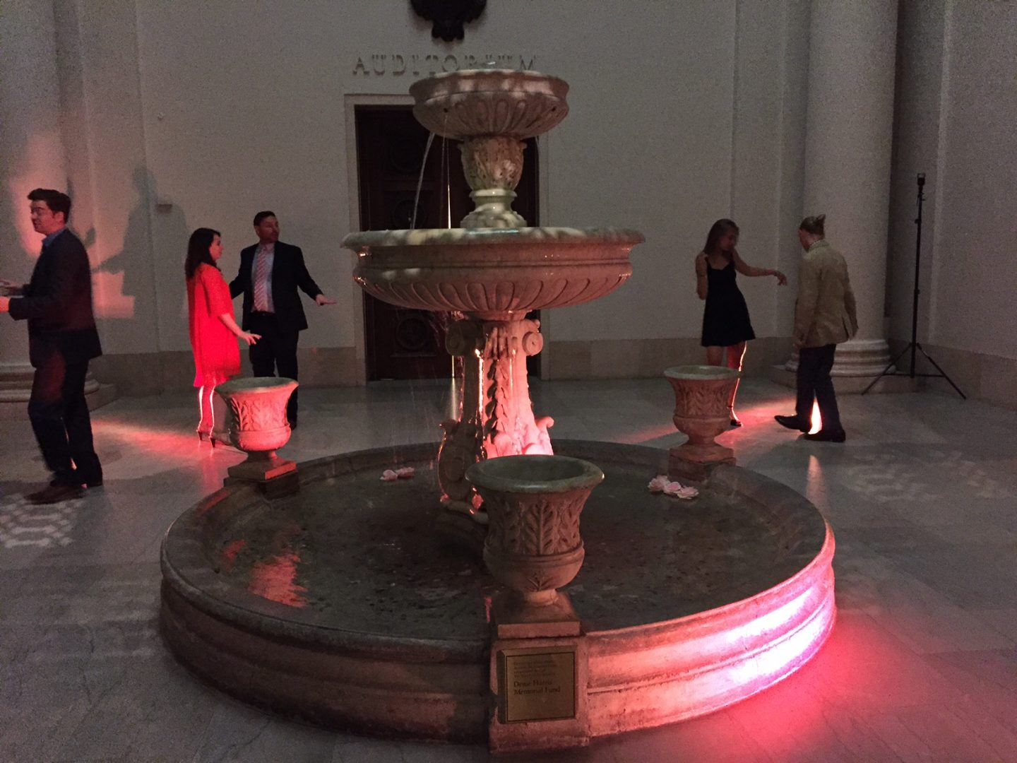 Dancing in the Fountain Court at Mia