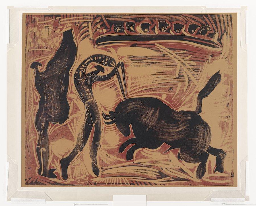 Picasso bullfight print