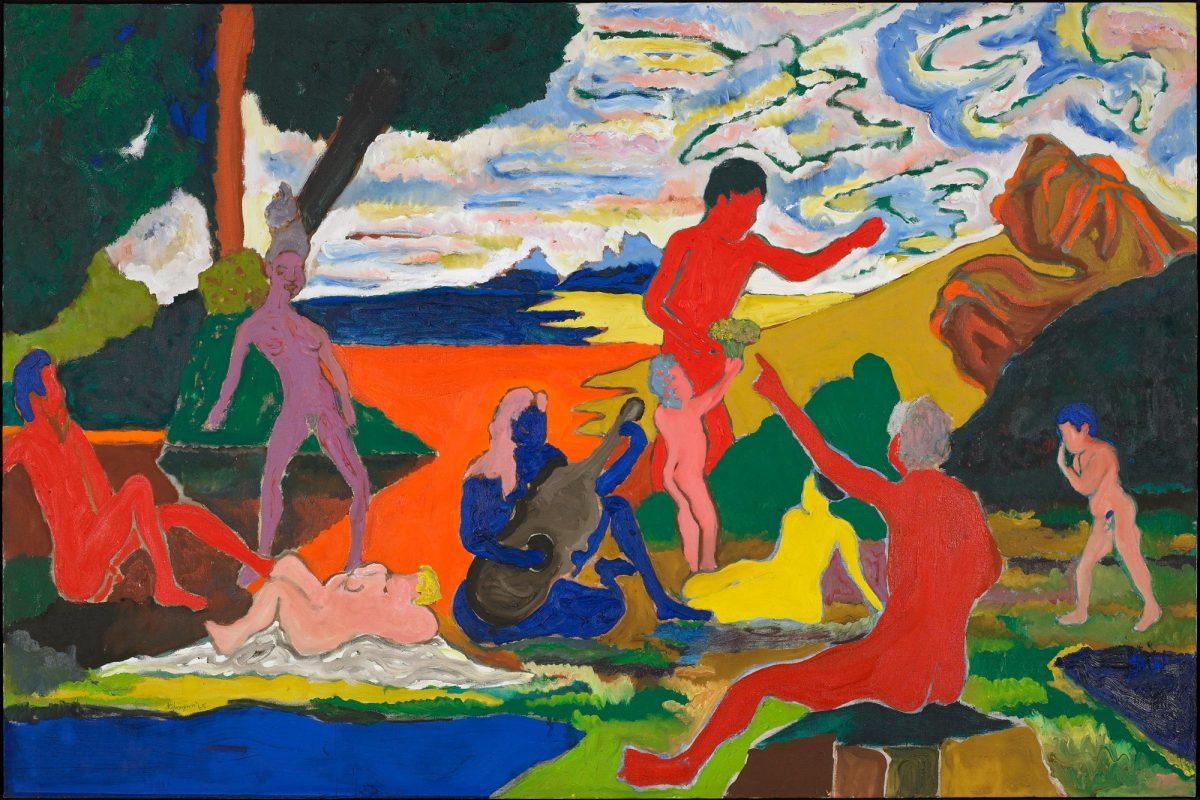 """Bob Thompson's """"Homage to Nina Simone"""""""