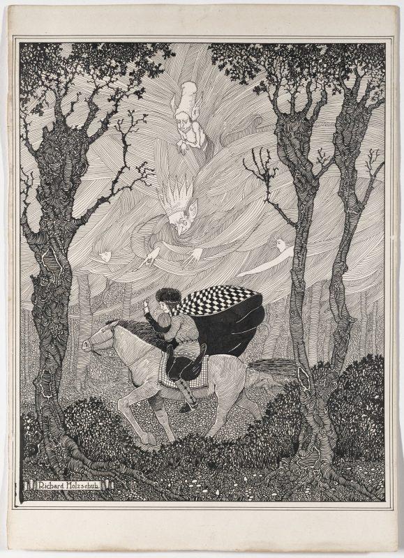 Der Elkoenig drawing by Richard Holzschuh