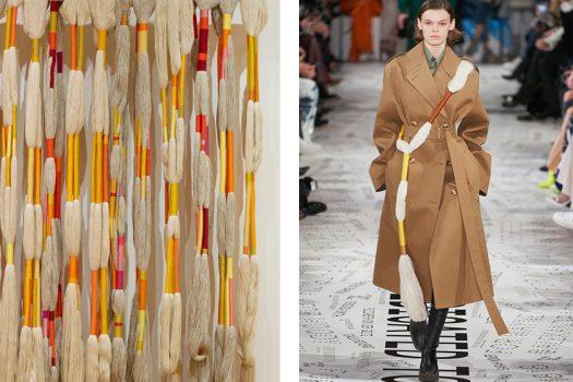 Sheila Hicks art with Stella McCartney fashion