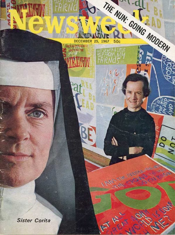 The 1967 cover of Newsweek magazine featuring Sister Corita.